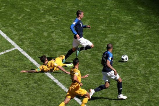 VAR пенальти в матче Франция - Австралия
