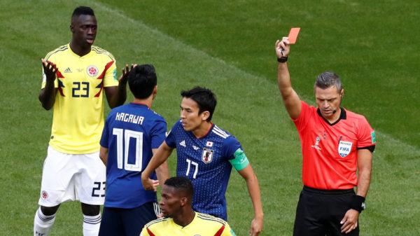 Колумбия - Япония: первое удаление ЧМ-2018 и верное решение Скомины